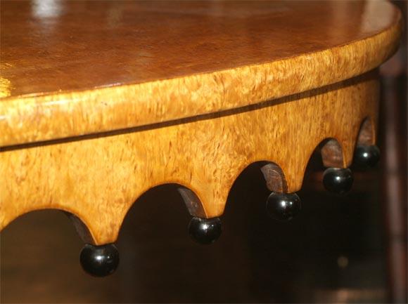 Wood Russian Biedermeier Center Table For Sale
