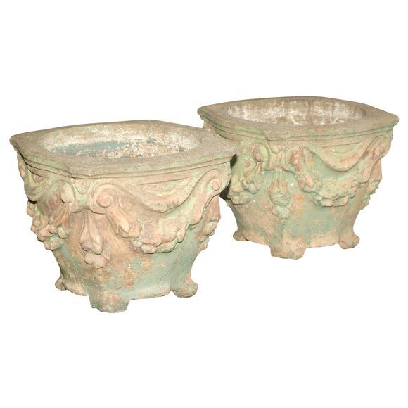 Pair of early mid 20th century cast concrete planters at 1stdibs - Casting concrete planters ...