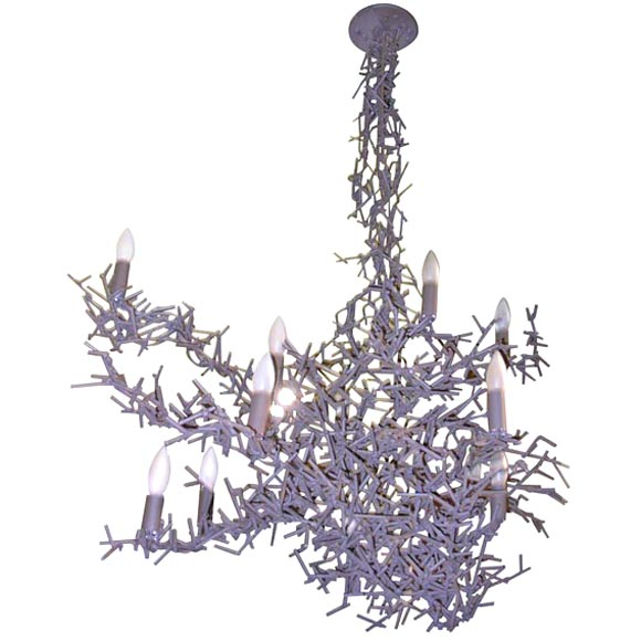 Asymetrical tangled branches chandelier at 1stdibs - Chandelier a 5 branches ...