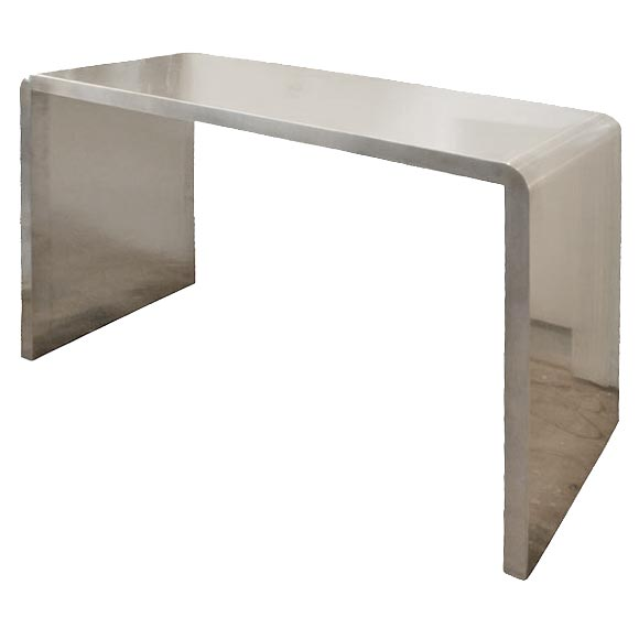 Beau Eccolau0027s Custom Stainless Steel Console Tables For Sale