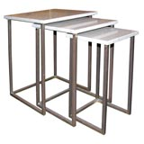 Set of Three Marble Nesting Tables