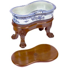 19th Century English Export Blue and White Bidet