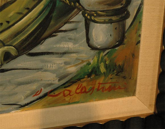 Set of Four WPA Style Ship  Paintings In Excellent Condition For Sale In Los Angeles, CA