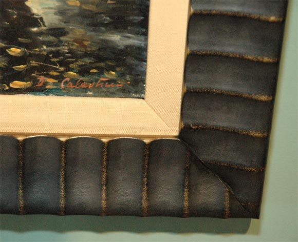 Set of Four WPA Style Ship  Paintings For Sale 4