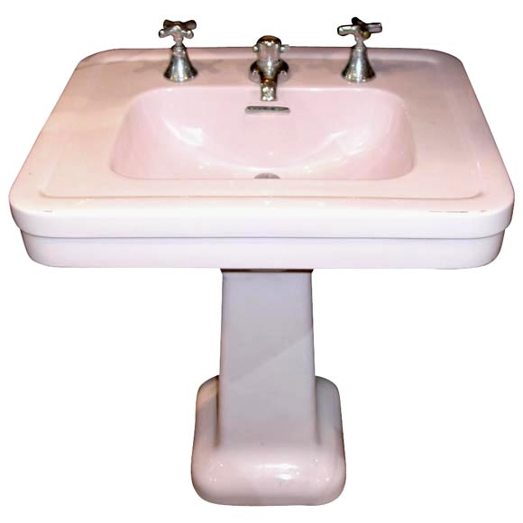 pink pedestal sink at 1stdibs