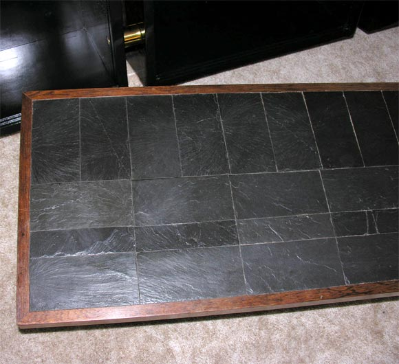 Pierre Lebé Bronze and Slate Table In Excellent Condition For Sale In New York, NY