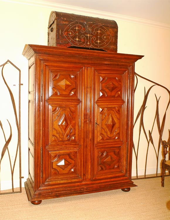 period louis xiii mahogany armoire at 1stdibs. Black Bedroom Furniture Sets. Home Design Ideas