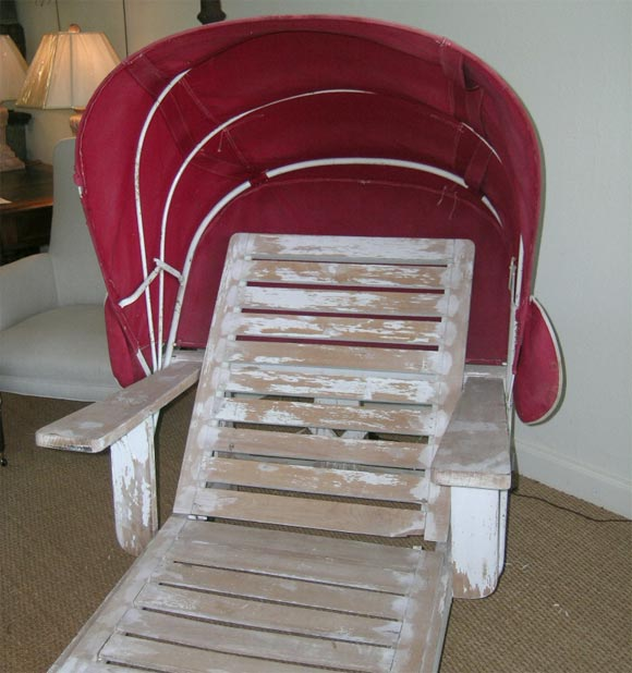 Chaise lounge with canopy at 1stdibs for Canopy chaise lounge