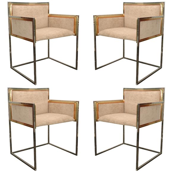 Set of Four Armchairs by Alain Delon for Maison Jansen For Sale at ... 16c6125cd2