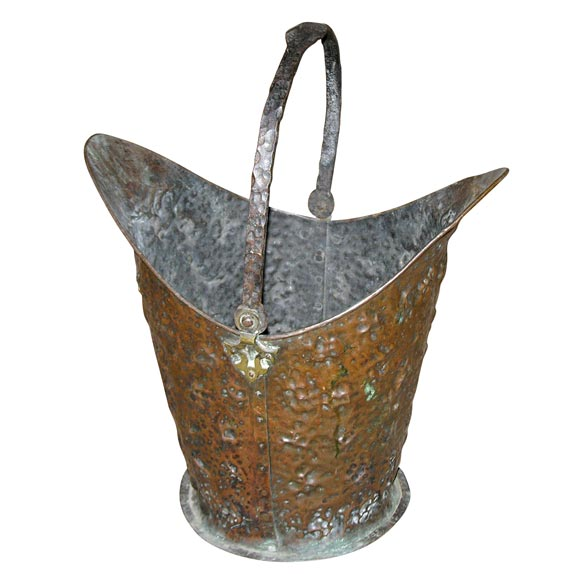 Arts and crafts metal firebucket at 1stdibs for Metal arts and crafts