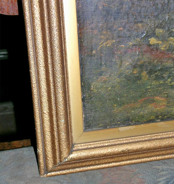 19th Century Naive Oil on Canvas In Excellent Condition For Sale In New York, NY