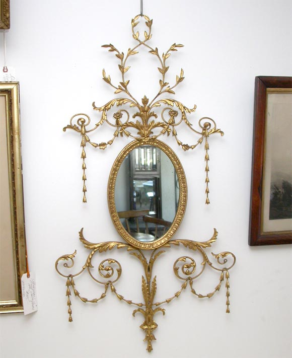 Decorative oval wall mirror for sale at 1stdibs for Decorative wall mirrors for sale