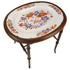 Early Victorian China Platter on Stand