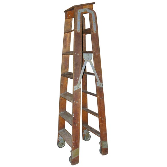 Decorating Old Ladders - Wooden electrician s ladder at 1stdibs