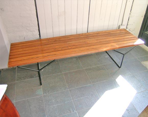 Wood and steel bertoia coffee table at 1stdibs - Bertoia coffee table ...