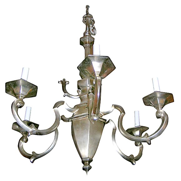Nickel Plated Bronze Chandelier At 1stdibs