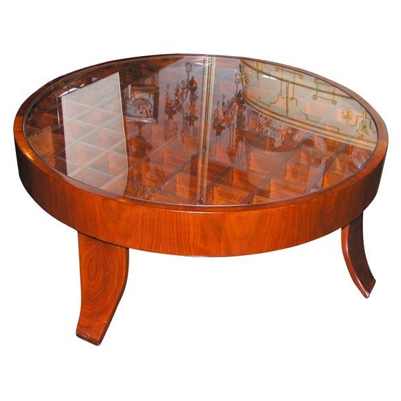 Circular Walnut Coffee Table By Gio Ponti At 1stdibs