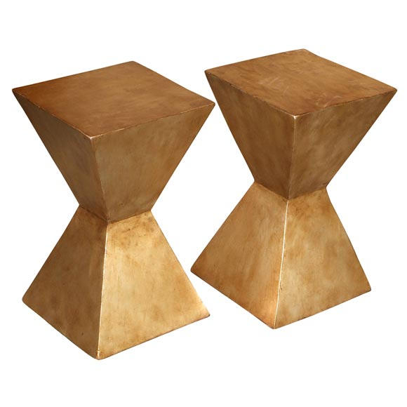 candace barnes now aztec gold leaf martini side table at