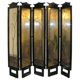 Exceptional James Mont Five Panel Screen