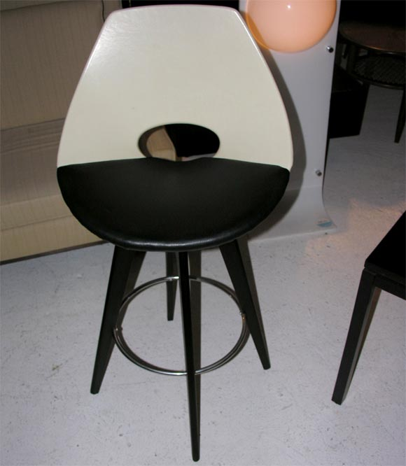 Set Of 3 1970 S Swivel Bar Stools At 1stdibs