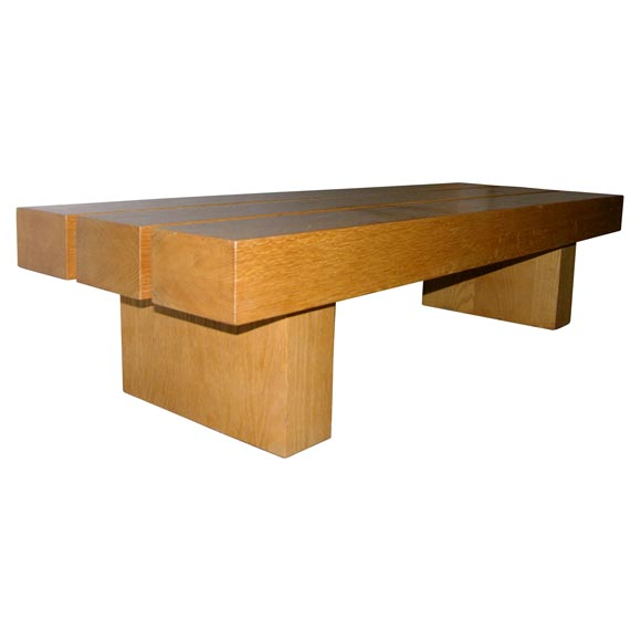 Elliot Noyes solid oak bench made for a house in New