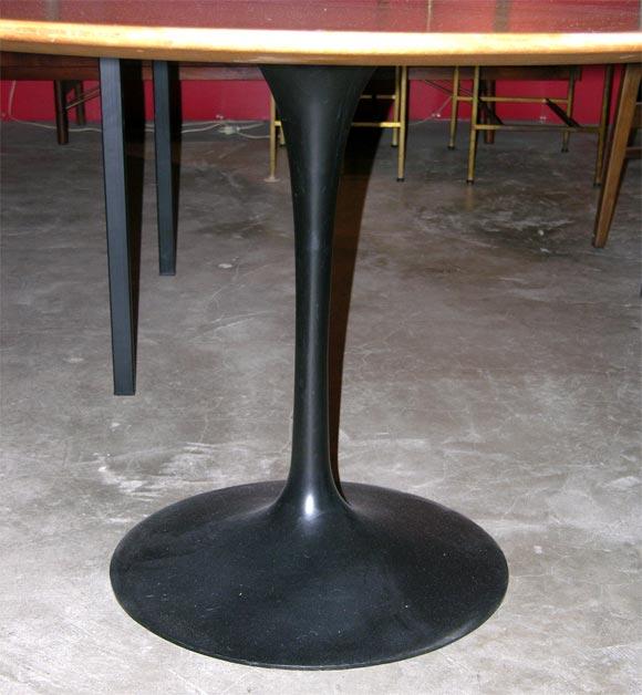 Eero Saarinen wood topped tulip dining table, mfg. Knoll 4