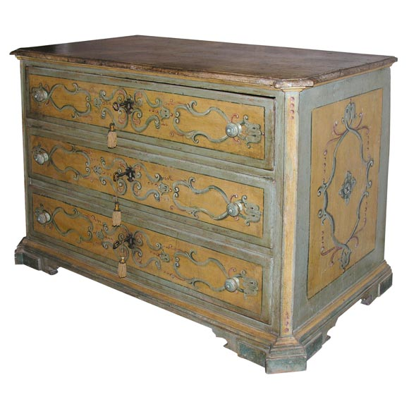Italian painted chest of drawers at 1stdibs for Italian painted furniture