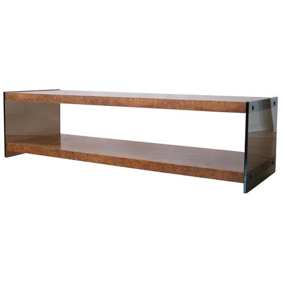Wood Slab And Lucite Coffee Table At 1stdibs: Burled Wood And Lucite Coffee Table By Flair At 1stdibs