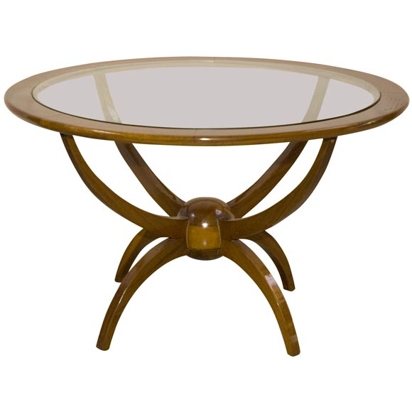 60 39 s round coffee table with glass top at 1stdibs for 60s coffee table