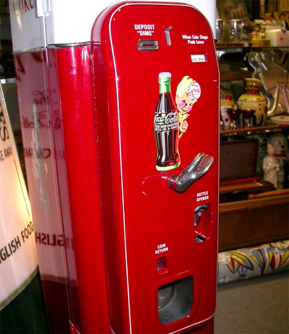 antique coca cola vending machine