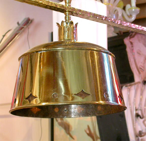 Circa 1920 Billiards Or Pool Table Light Fixture With