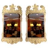 Pair of George II Giltwood Mirrors