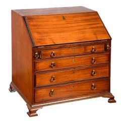 19th Century Mahogany Cabinet Maker's Sample Miniature Slant Front Desk
