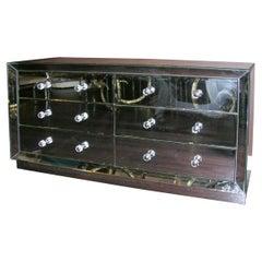Beveled Front 6-Drawer Mirrored Dresser