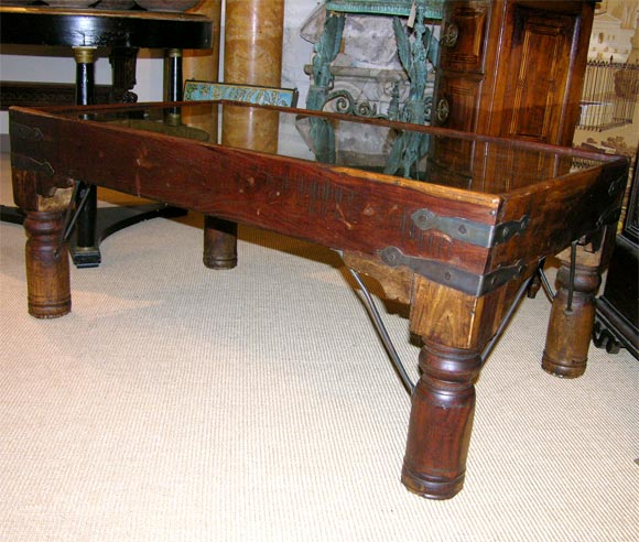 Coffee table comprised of a 16th century Indian door at 1stdibs