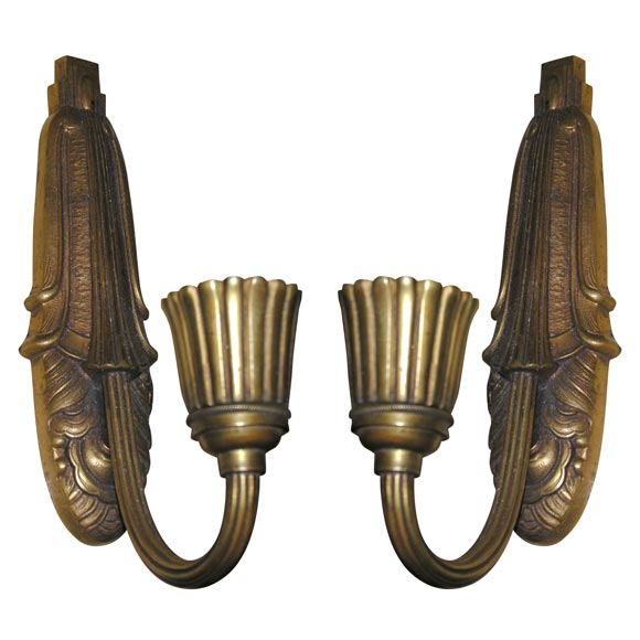 French Art Deco Wall Sconces : French Art Deco Wall-Sconces For Sale at 1stdibs