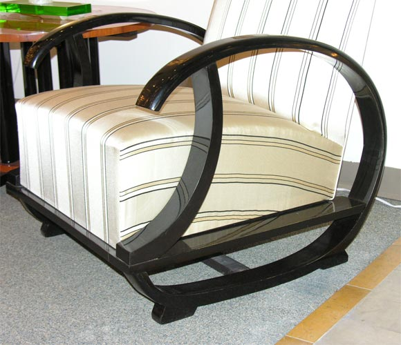 a pair of art deco fauteuils at 1stdibs. Black Bedroom Furniture Sets. Home Design Ideas