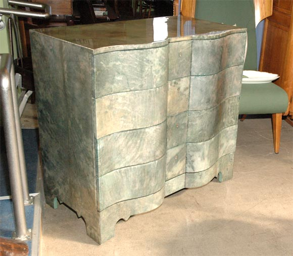 Green Parchment Commode 2