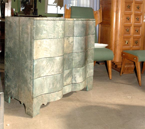 Green Parchment Commode 3