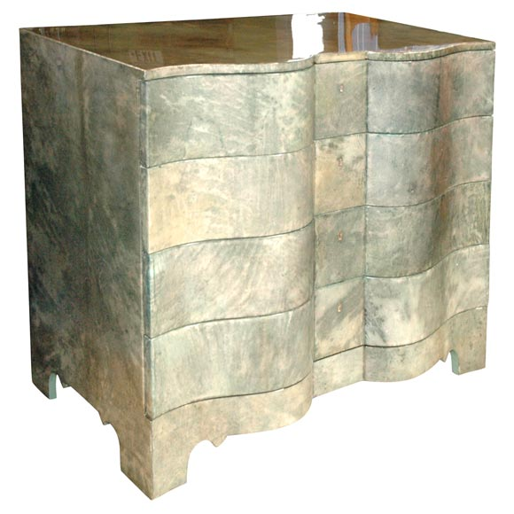 Green Parchment Commode 1