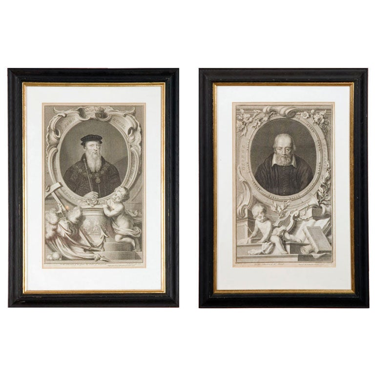 Set of Four 18th Century Prints For Sale
