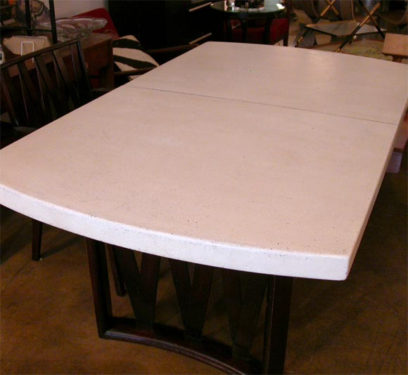 Paul T Frankl Cork And Mahogany Dining Room Table At 1stdibs