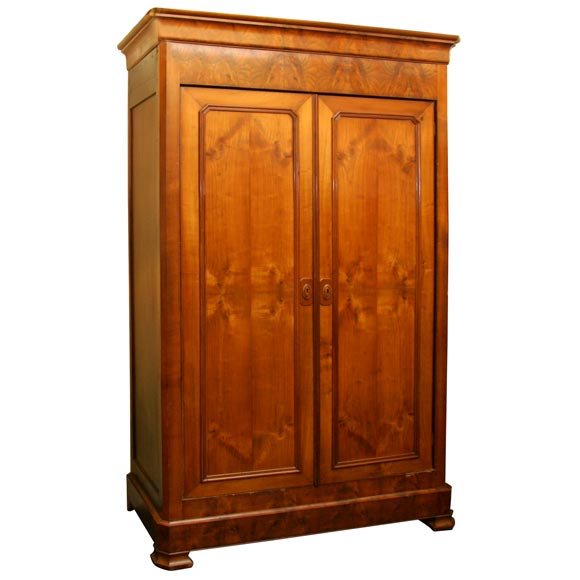 French directoire style armoire in cherry wood mericier