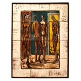 Ceramic Tile Painting of Nudes
