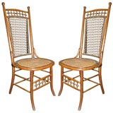 Pair of stick and ball Heywood Wakefield side chairs