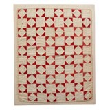 19THC DIAMONDS  IN SQUARES DOLL QUILT