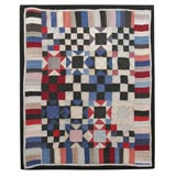 RARE MOUNTED OHIO AMISH DOLL QUILT