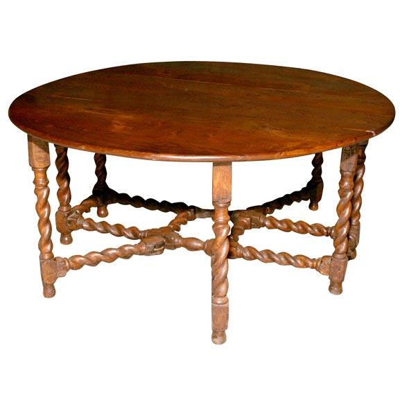 19th Century Oval Chestnut Gateleg Table