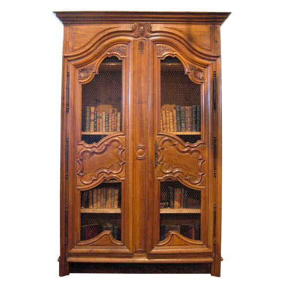 18th c walnut bibliotecque at 1stdibs for Empire antiques new orleans