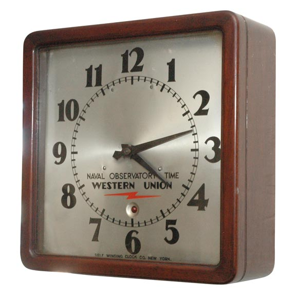 Unusual western union electric wall clock for sale at 1stdibs Unusual clocks for sale